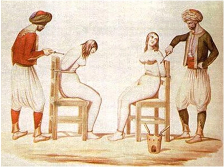 White European women enslaved and tortured