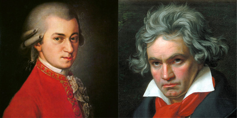 Mozart (1756–1791) and Beethoven (1770–1827)