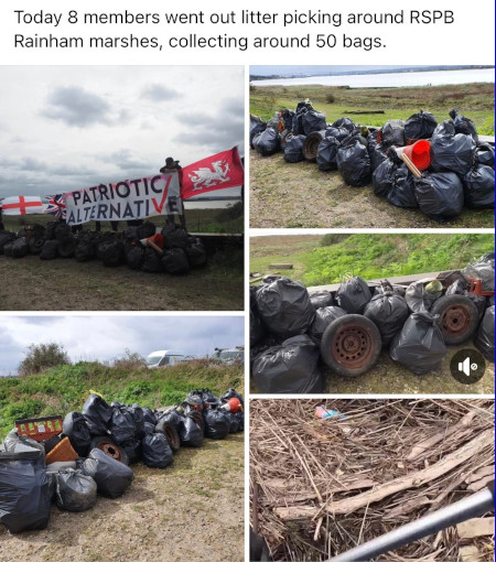 PA cleaning up at Rainham Marshes
