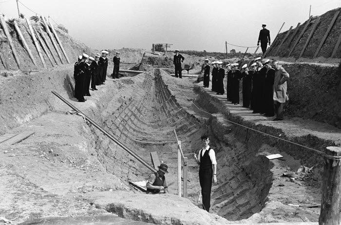 Basil Brown at Sutton Hoo excavation