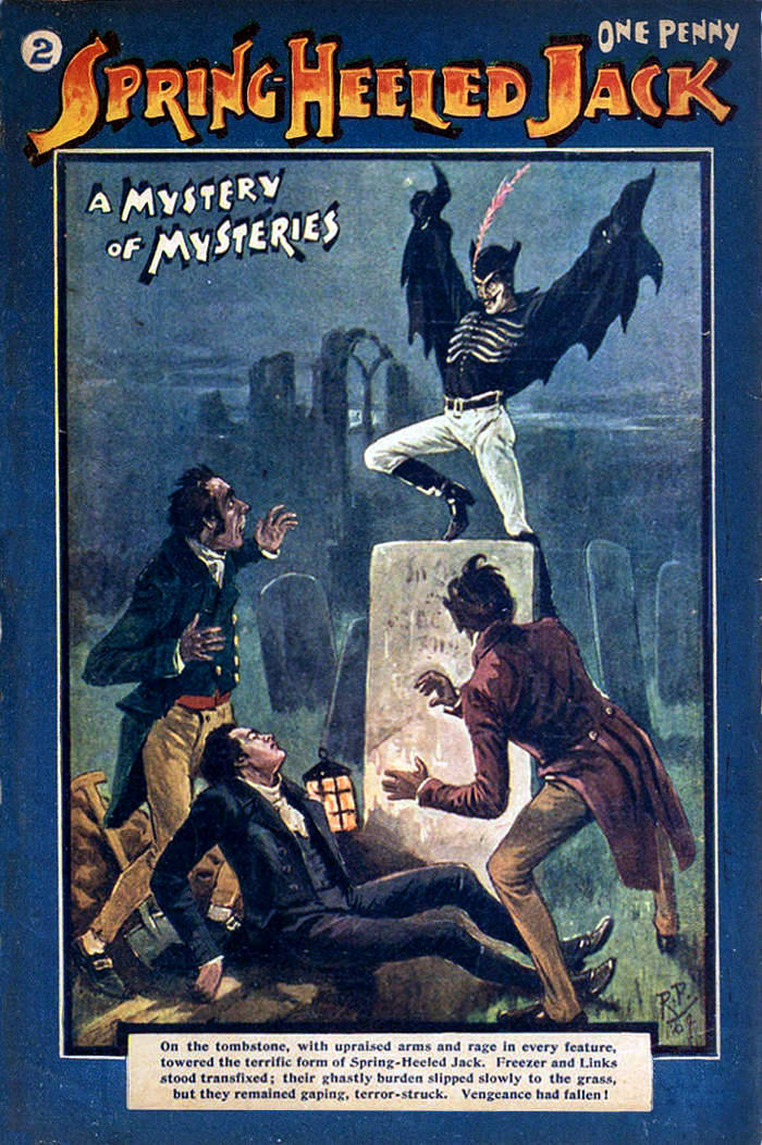 """Spring heeled Jack appeared in """"penny dreadfuls"""""""