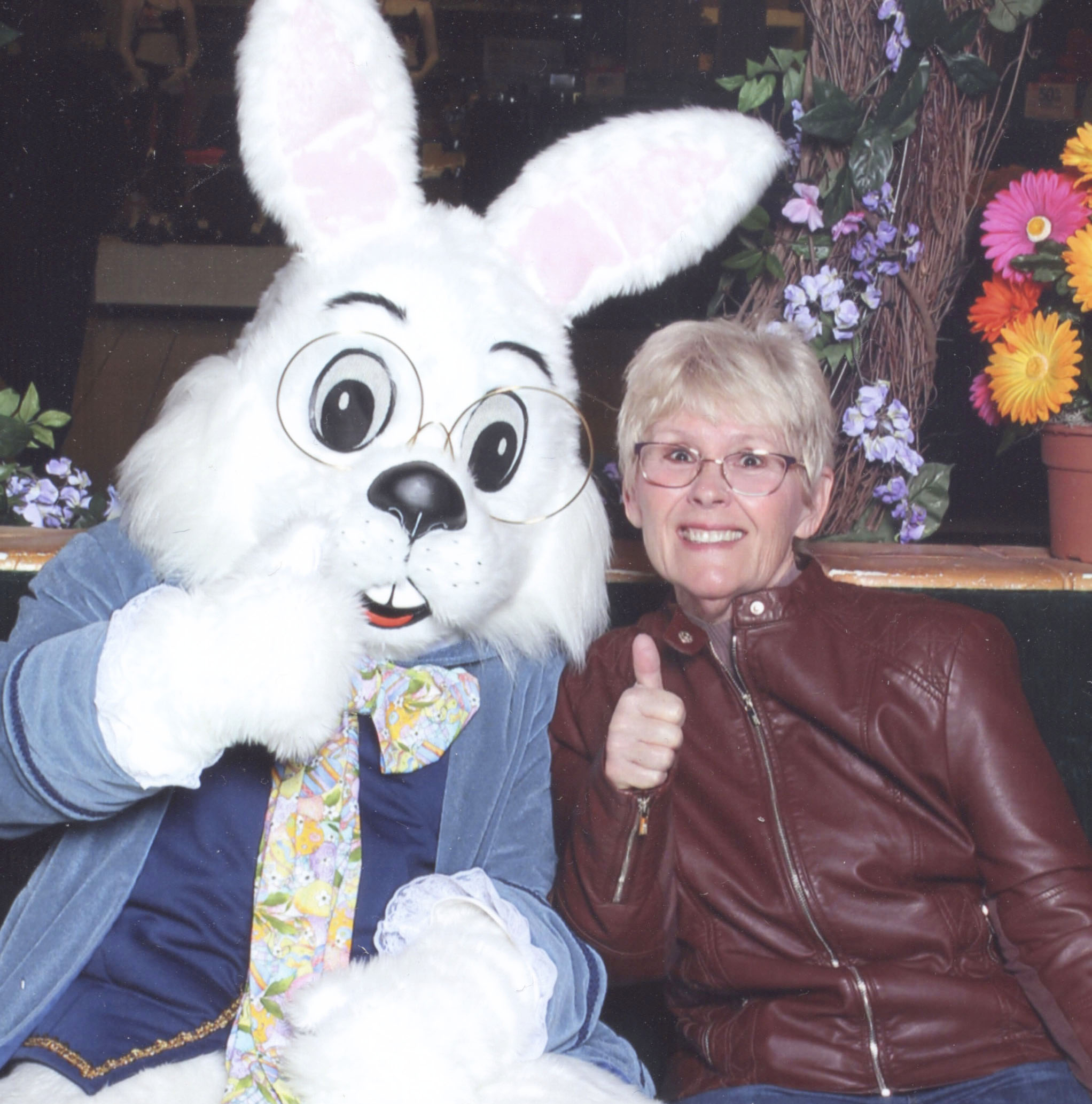 Easter Bunny and Paula