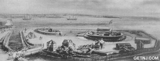 Paulus Hook Fort Painting