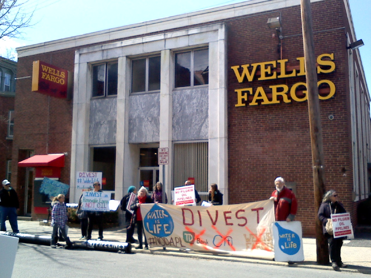 Wells Fargo Divesment Protest