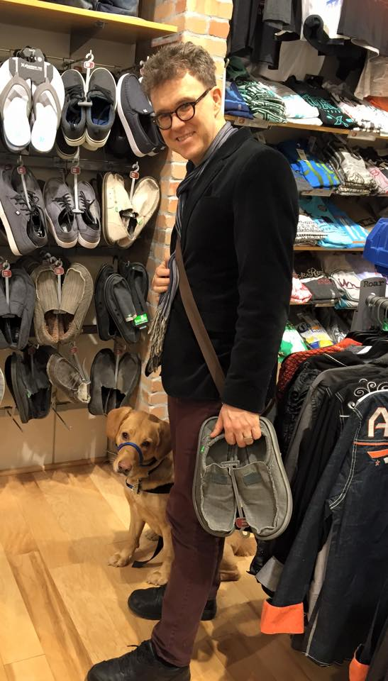 Harley learning to be calm during shopping time
