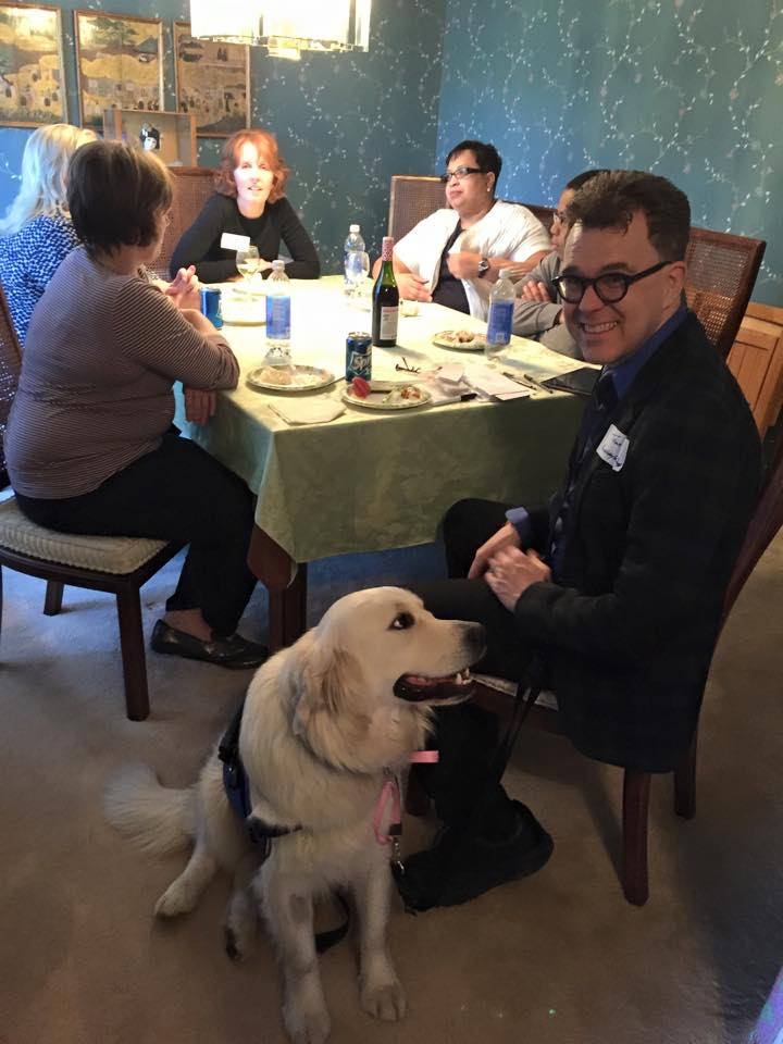 Fundraising can be fun if you have a dog there