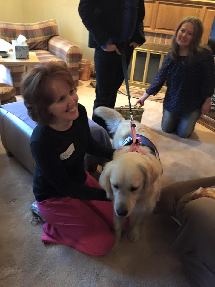 Guests get to meet a dog
