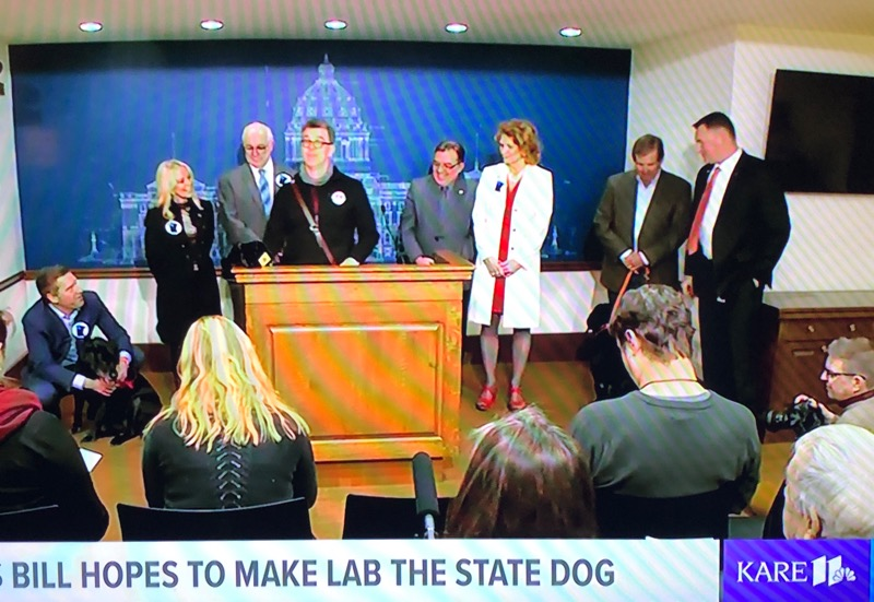 Joining senators and representatives to pass the Minnesota state dog bill