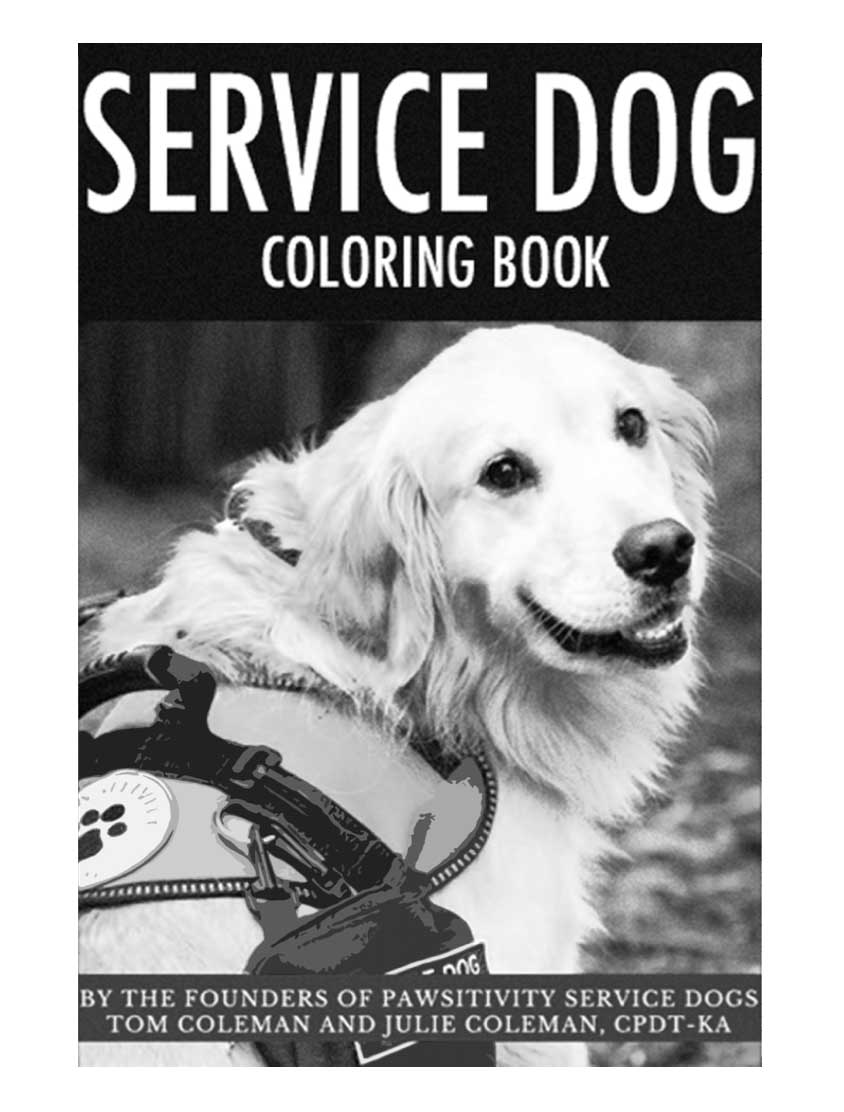 Service Dog Coloring book