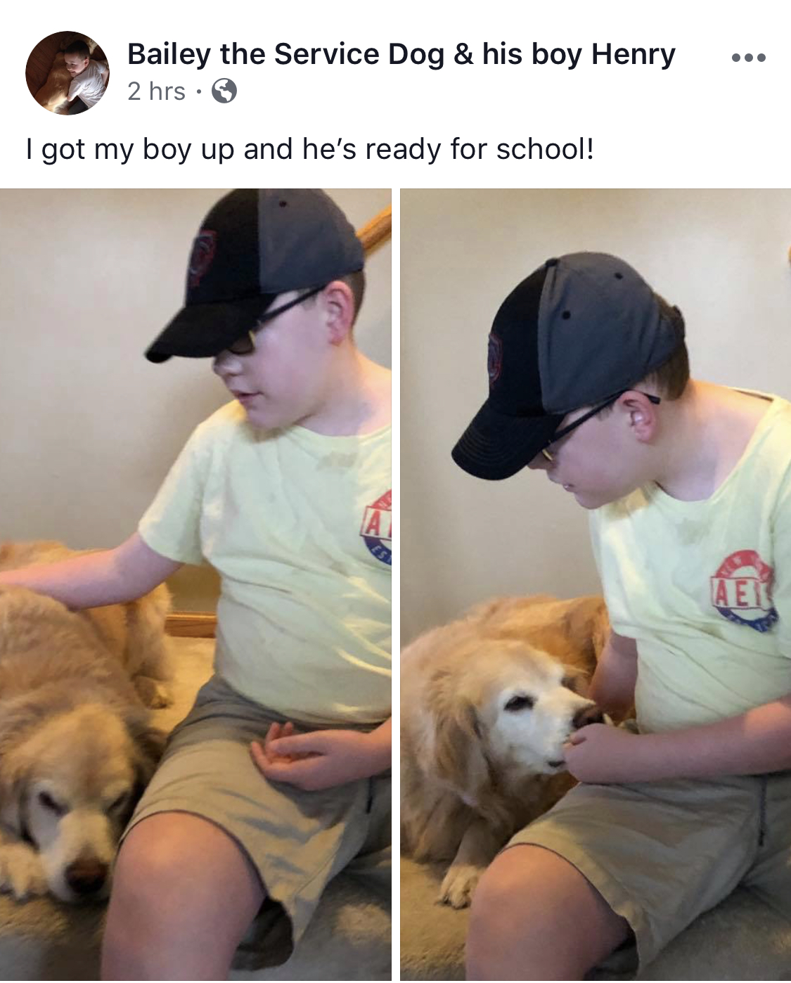 Autism Service Dog Bailey and his boy
