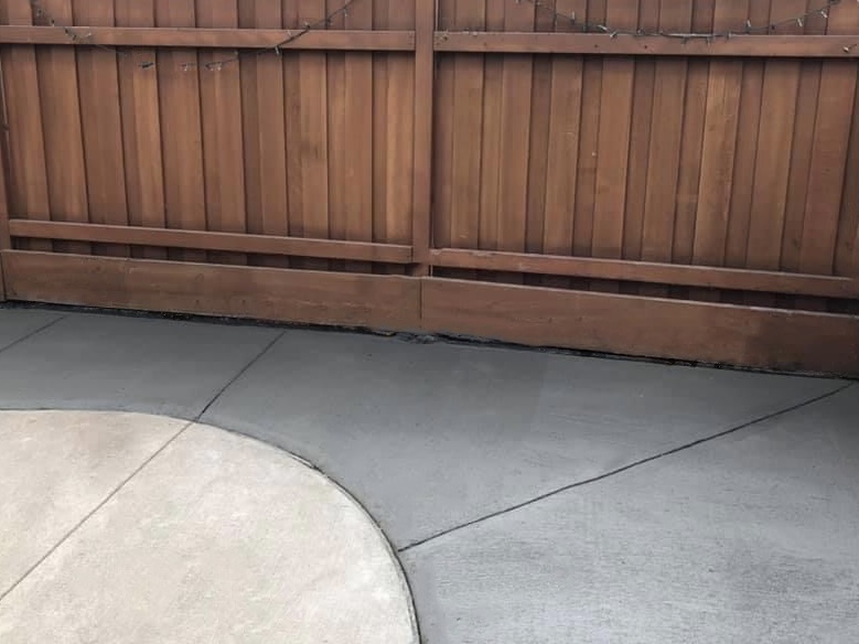 New concrete patio by Turbo Landscaping