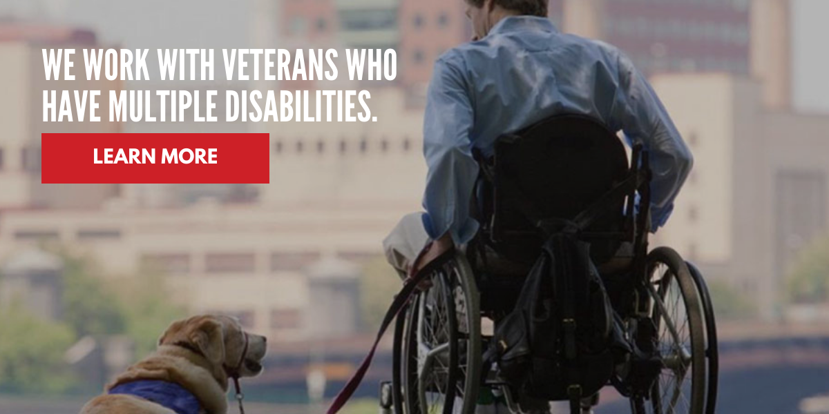 We work with multiple disabilities.