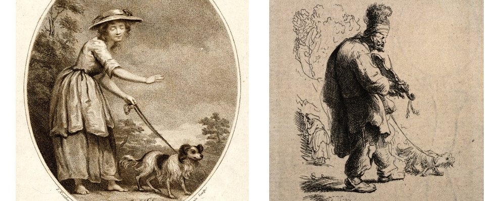 Art involving guide dogs