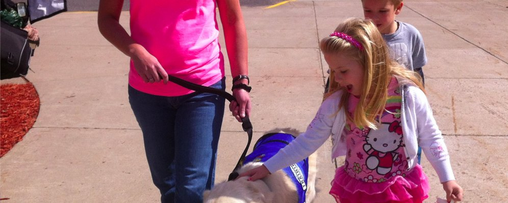 Olaf is Salk Middle School's Therapy Dog
