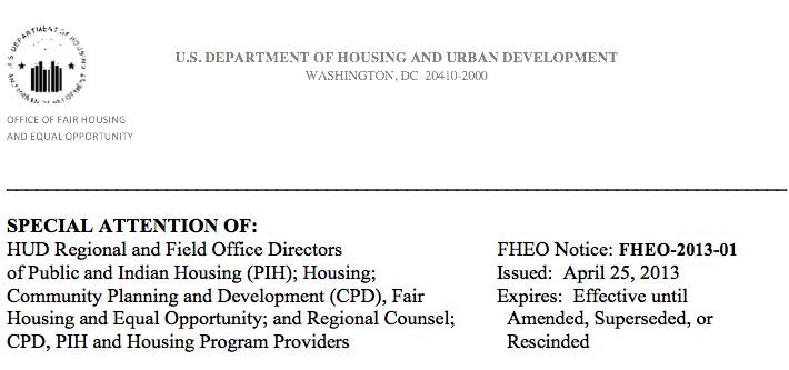 Fair Housing memo