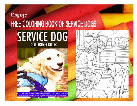 Free Coloring Book Of Service Dogs
