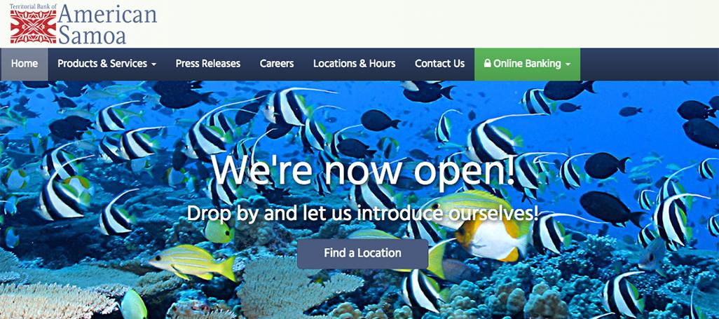 Territorial Bank of American Samoa website