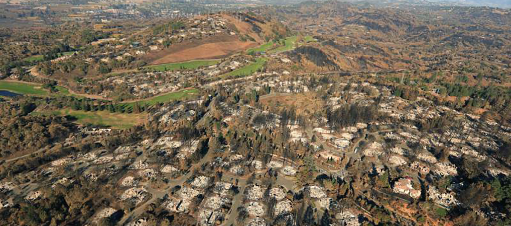 Santa Rosa Tubbs fire destruction