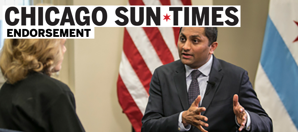 Ameya Pawar, Sun Times endorsement