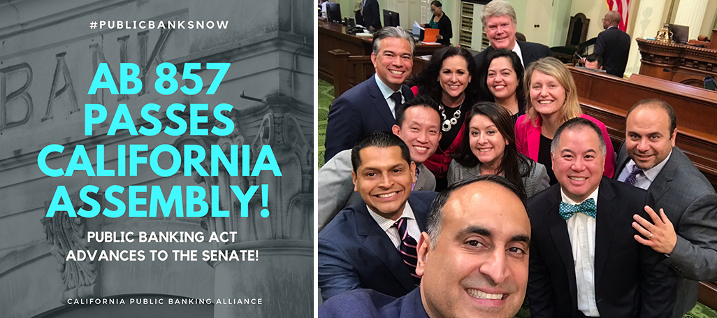AB857 passes CA Assembly