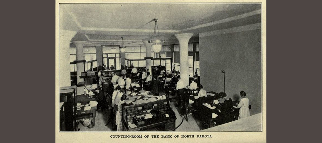 Counting room of the Bank of North Dakota