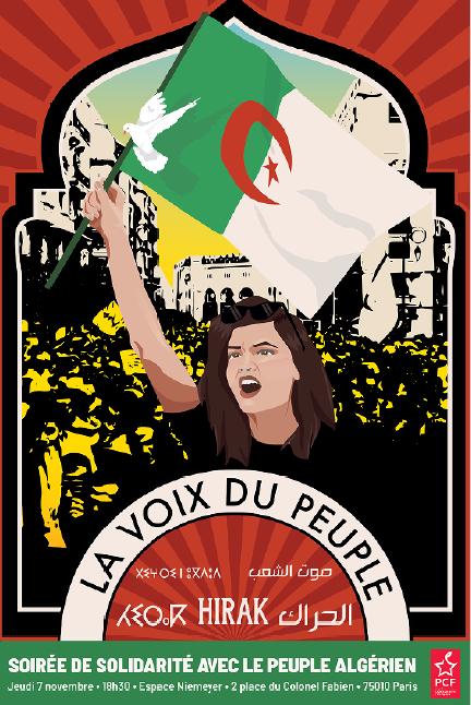soiree de solidarite avec le peuple algerien