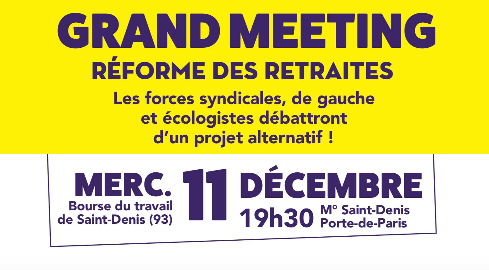 Grand Meeting le 11 décembre 2019