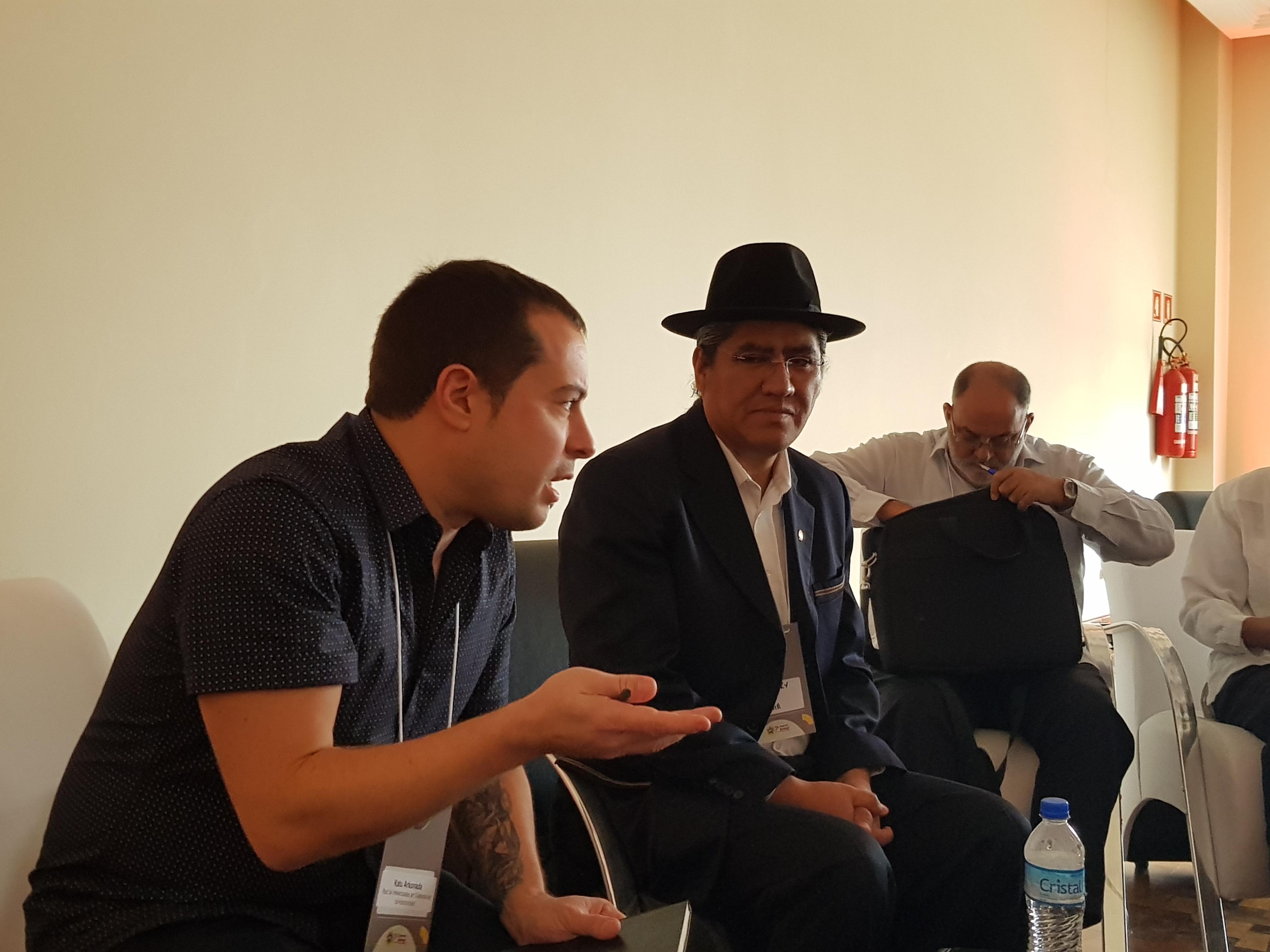 nov 2019 - rencontre  avec Luis Arce à Sao Paulo (Brésil)