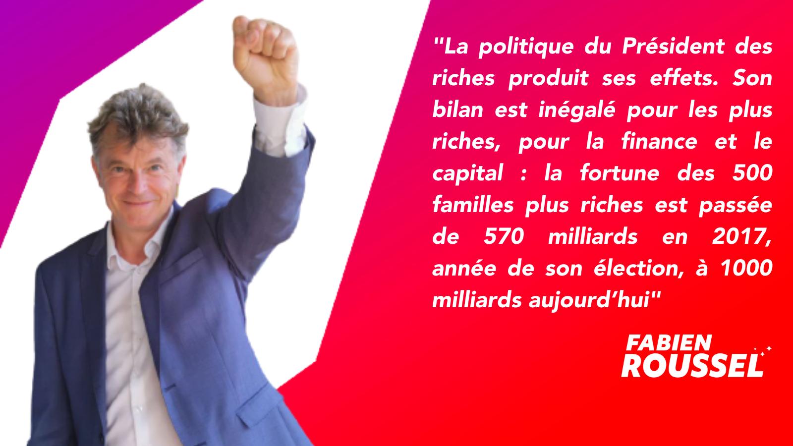 500 plus grandes fortunes de France : « Ils pillent notre argent en pleine pandémie, prenons le pouvoir au capital ! » (Fabien Roussel) dans POLITIQUE