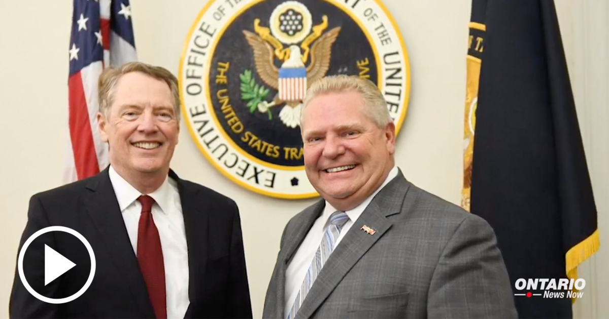 Premier Ford Meets with USTR Robert Lighthizer in Washington
