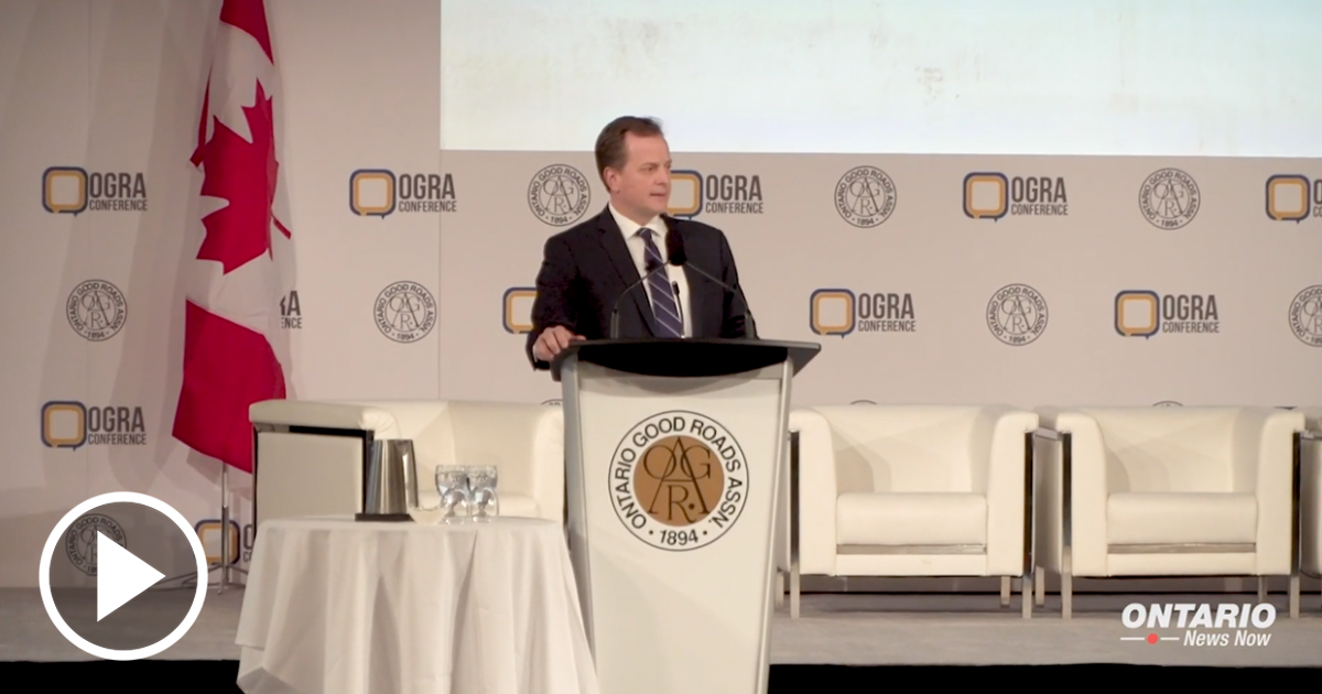 Minister Yurek and Minister McNaughton at the Ontario Good Roads Association Conference