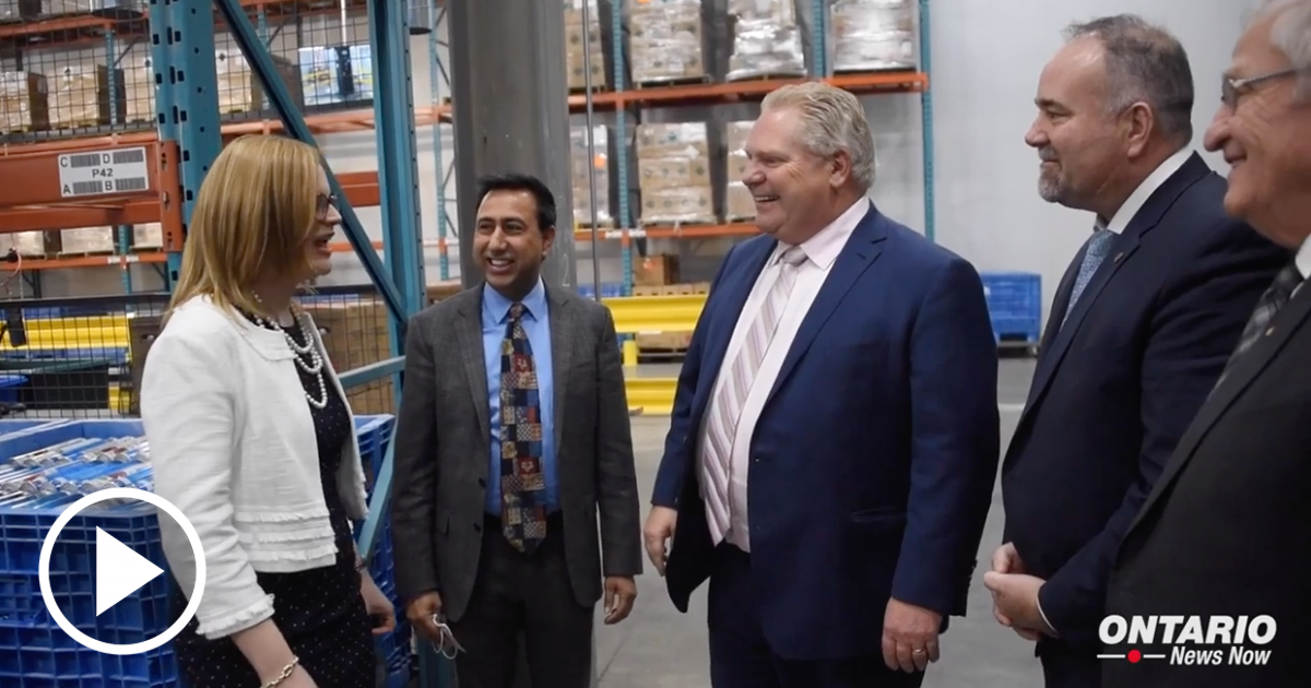 Premier Ford Attends Grand Opening of SodaStream's State-of-the-Art Refilling Centre in Mississauga