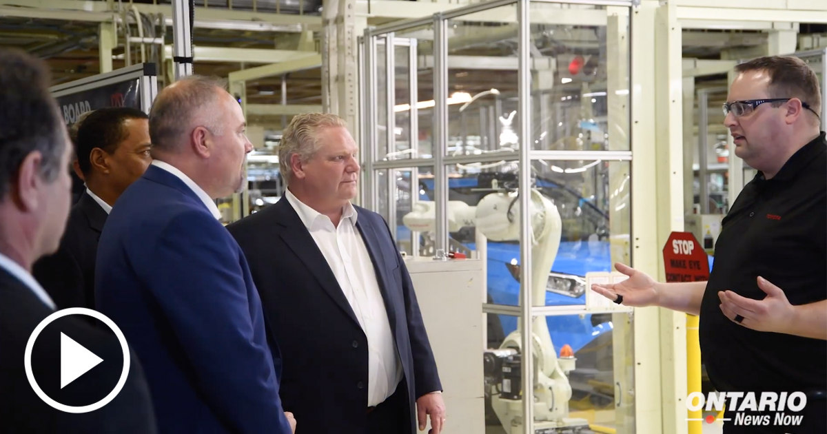 Premier Ford Joined Workers at Toyota's Cambridge Plant to Celebrate Production Launch of RAV4