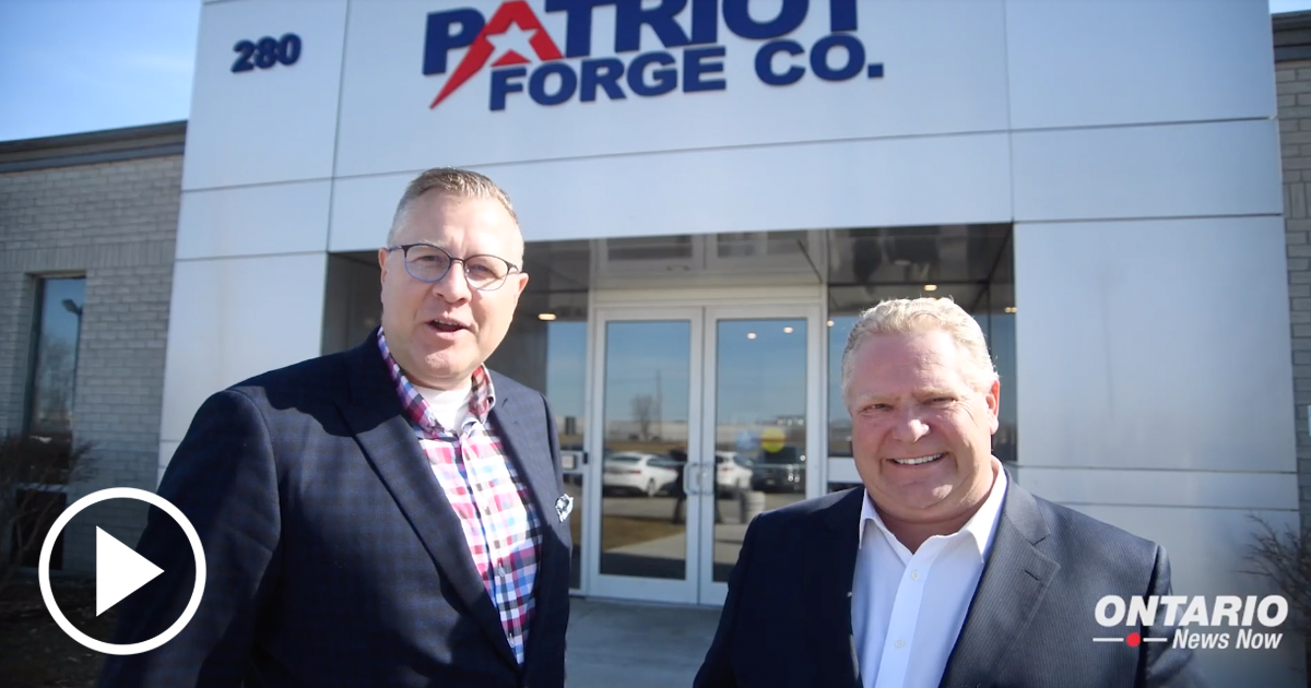 Premier Ford Tours Patriot Forge in Brantford with MPP Will Bouma