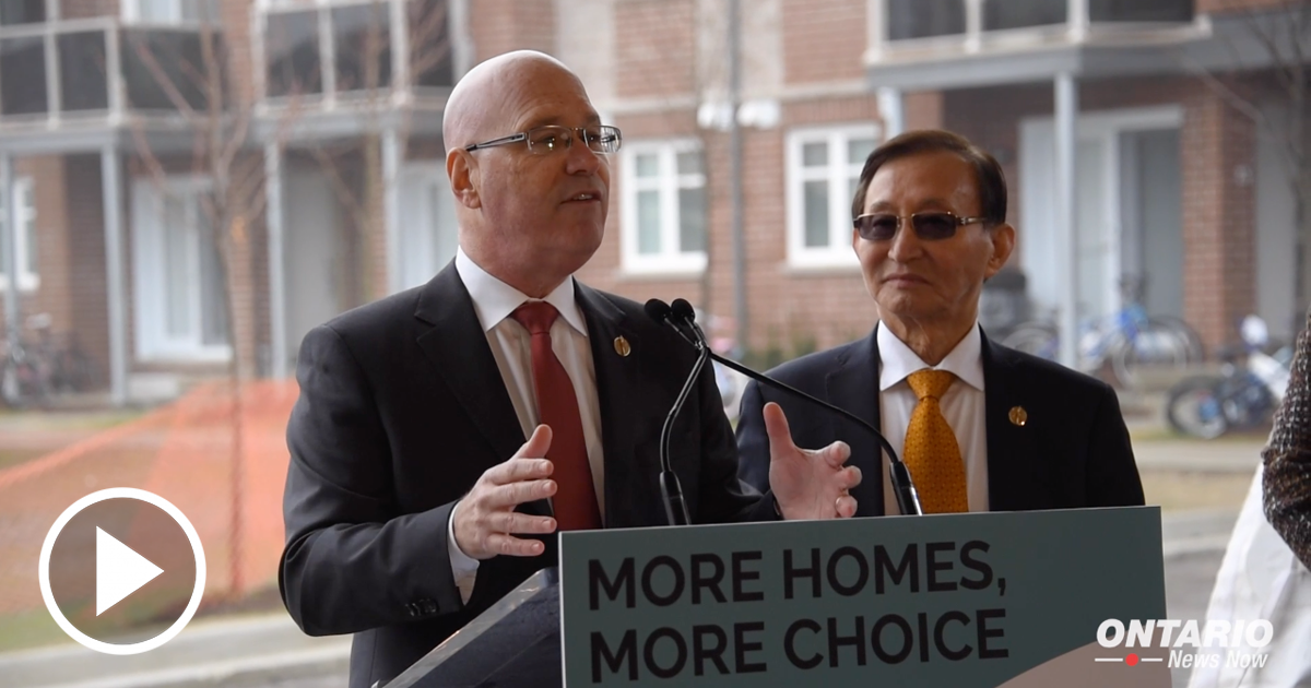 "Minister Steve Clark revealed Ontario's Housing Supply Plan, ""More Homes, More Choice"""