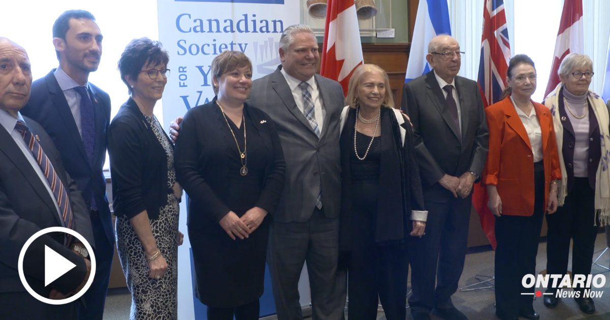 In honour of Holocaust Remembrance Day, Premier Ford joined the Canadian Society for Yad Vashem