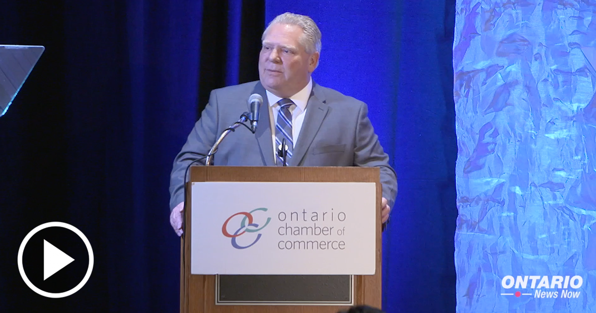 Premier Ford was in Muskoka to speak at the Ontario Chamber of Commerce General Meeting