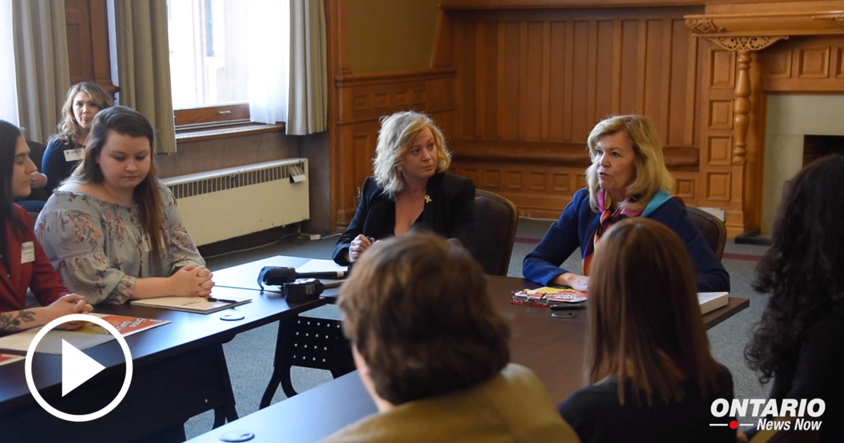 Ministers Christine Elliott and Lisa MacLeod sat down with the Youth Action Committee