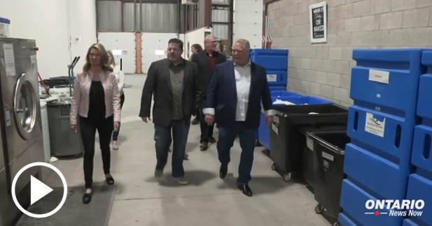 Premier Ford kicked off the long weekend by touring local businesses in Barrie and Orillia