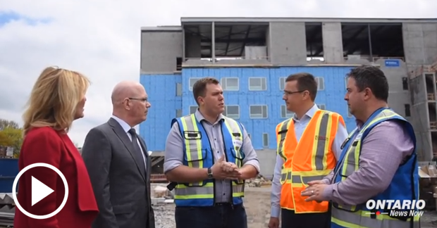 Ministers celebrate a milestones in the redevelopment of Brockville General Hospital