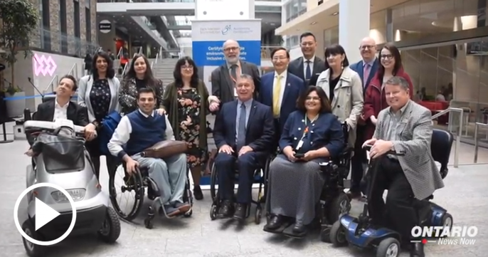 Ontario is partnering with the Rick Hansen Foundation to remove barriers to accessibility