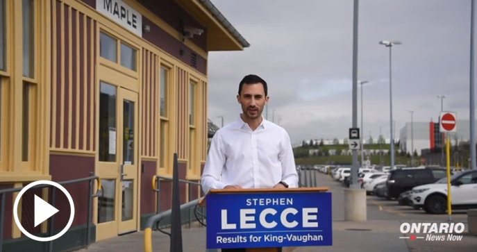 Stephen Lecce, MPP for King–Vaughan, announced good news for commuters and transit users in Vaughan!
