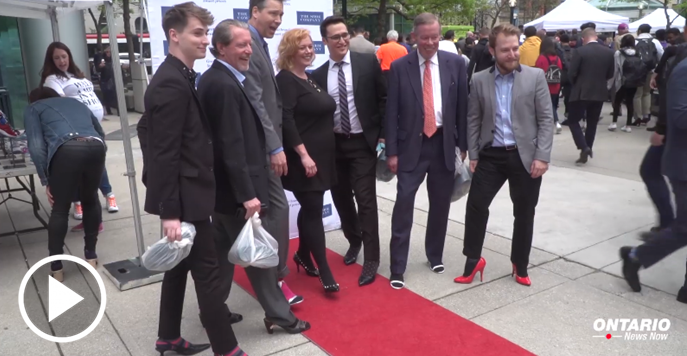 Minister Lisa MacLeod joined the White Ribbon Campaign's 10th annual Walk a Mile in Her Shoes event