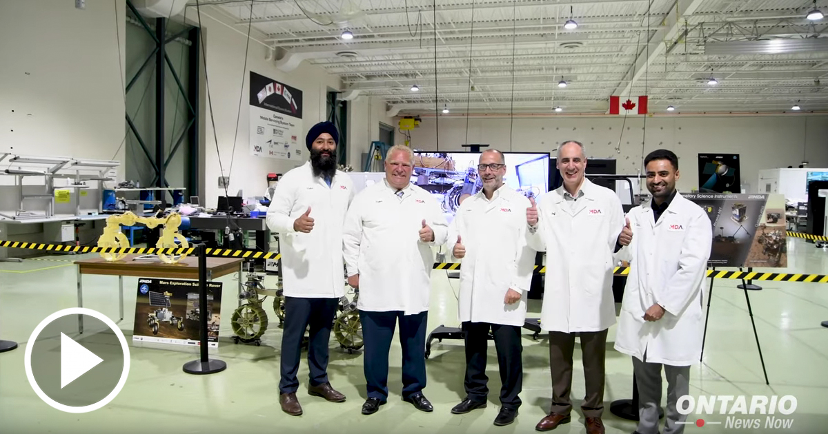Premier Ford tours MDA Aerospace Robotics in Brampton