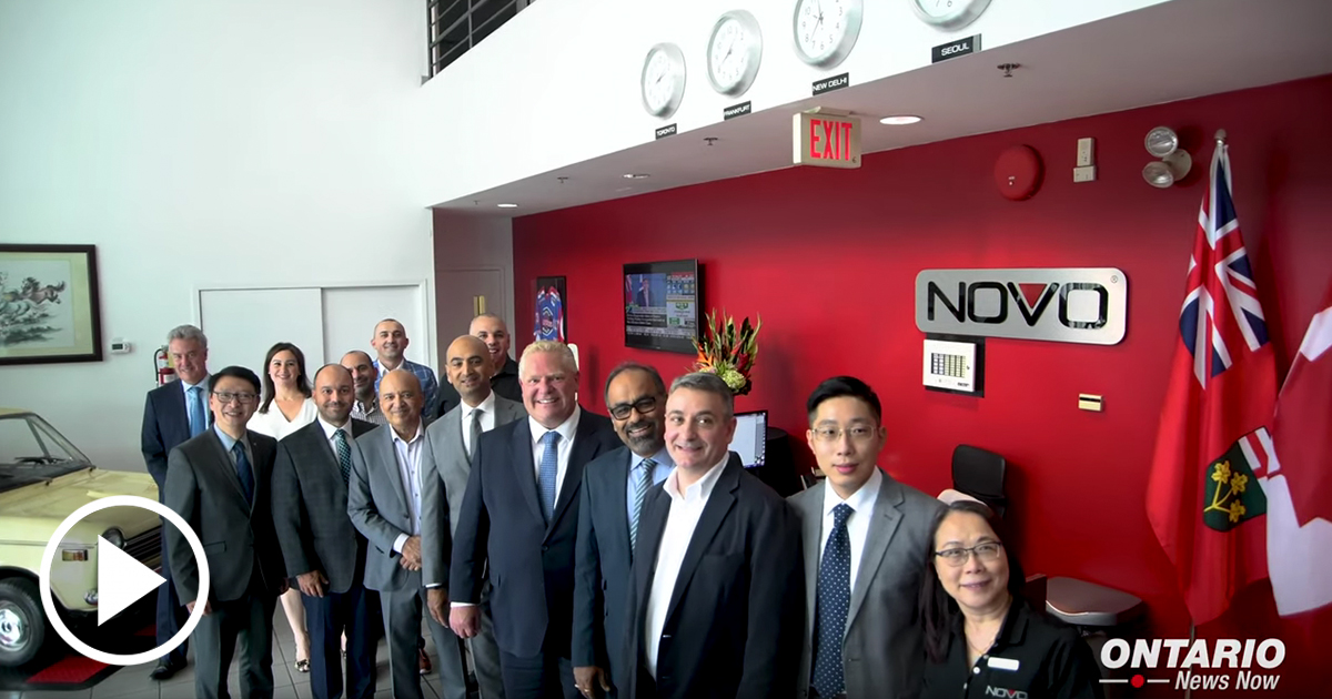 Premier Ford tours Novo Plastics with MPP Billy Pang in Markham