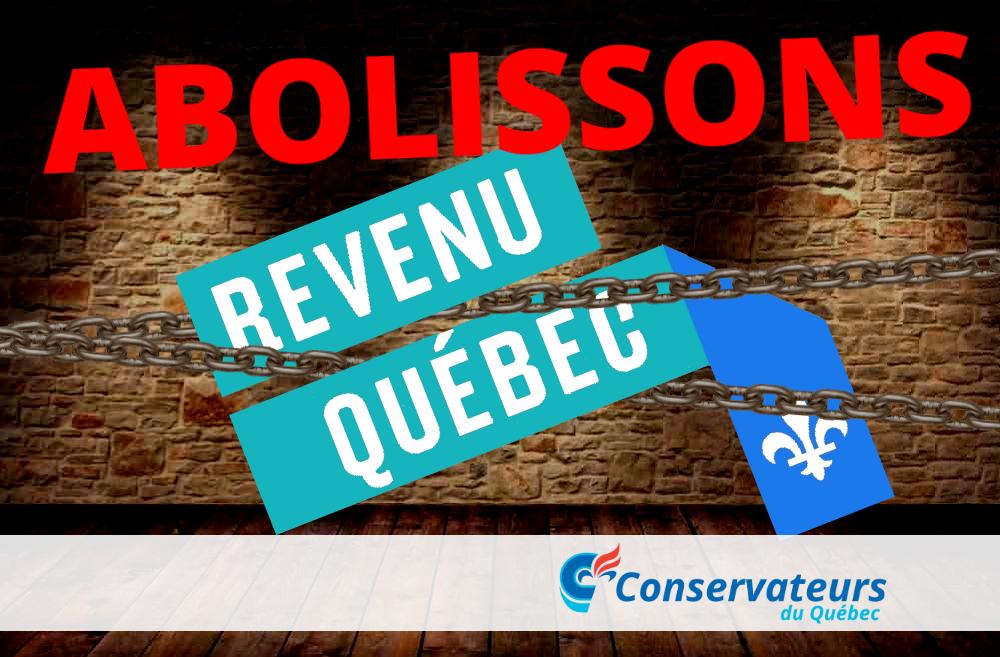 Abolissons revenu québec parti conservateur du québec pcq