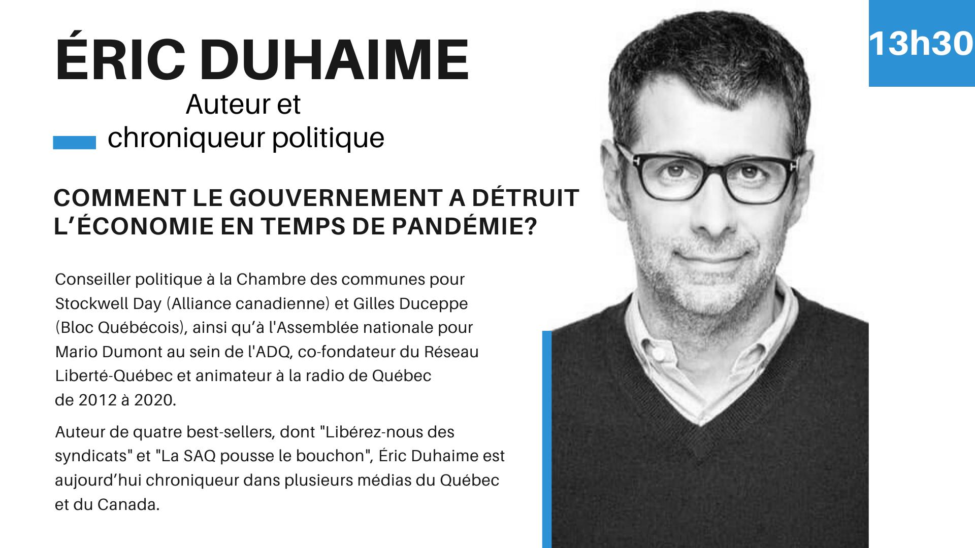 CG2020 Conférencier Éric Duhaime