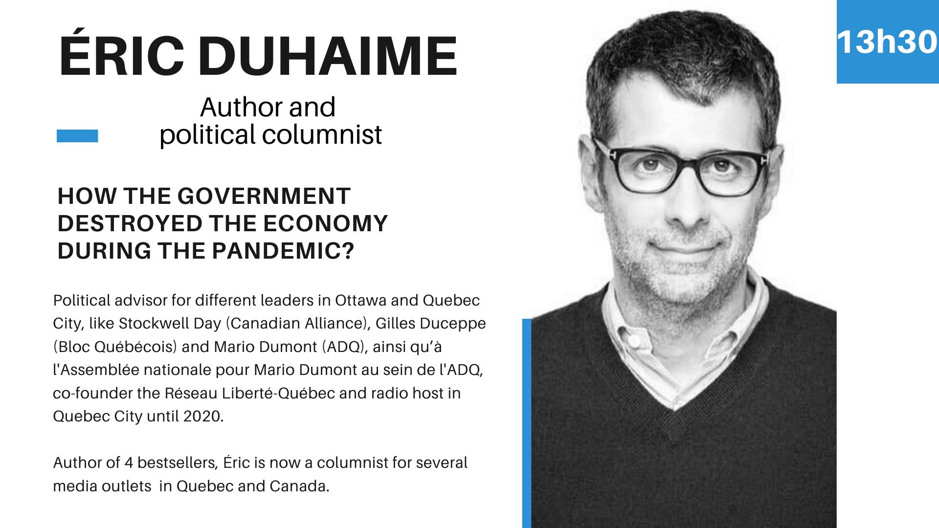 Speaker Éric Duhaime