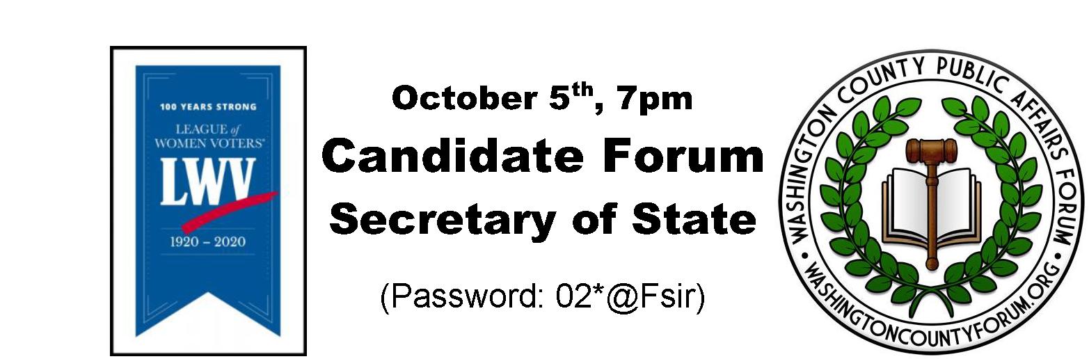 LWV-WCPAF Candidate Forum