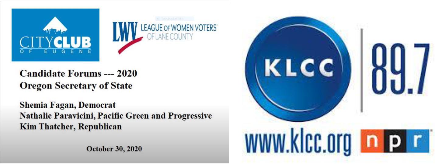 LWV, CCE, KLCC debate